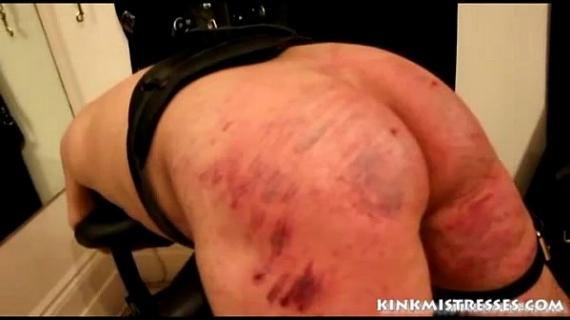 b. caning on the bench - kinkmistresses.com
