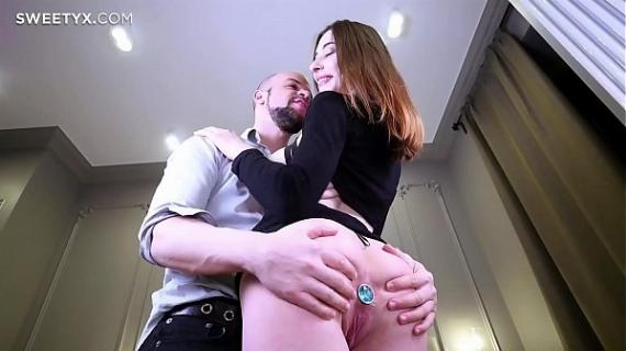 Clary is so young and already has such big boobs! Anal sex with Jean-Marie Corda!