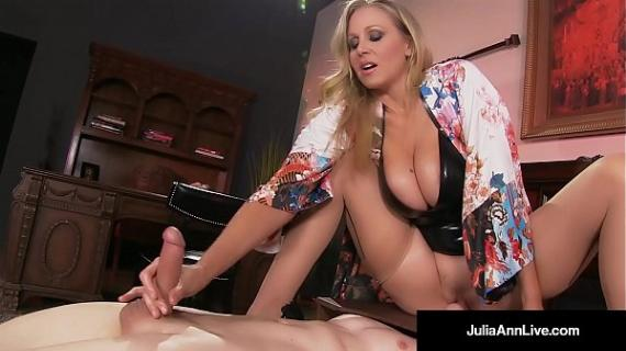 Mega Hot MILF Julia Ann a. Her Slave Boy!